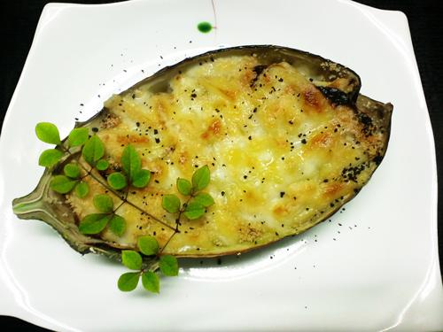米茄子の味噌チーズ焼